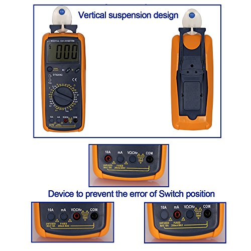 OLSUS DT-8200Q LCD Handheld Digital Multimeter for Home and Car - Gray by OLSUS (Image #6)