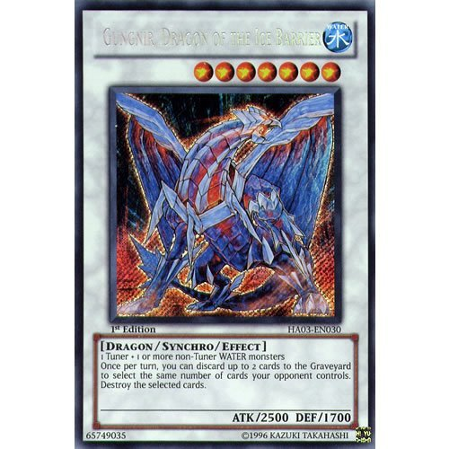 YuGiOh : HA03-EN030 1st Ed Gungnir, Dragon Of The Ice Barrier Secret Rare Card - ( Hidden Arsenal 3 Yu-Gi-Oh! Single Card ) by Deckboosters (Gungnir Dragon Of The Ice Barrier compare prices)