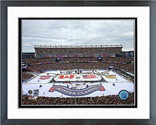 Gillette Stadium Framed - Boston Bruins Gillette Stadium NHL Winter Classic Photo (Size: 12.5