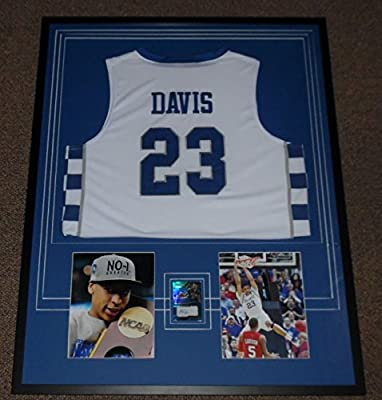 Anthony Davis Signed Framed 30x39 Jersey & Photo Display PANINI Kentucky