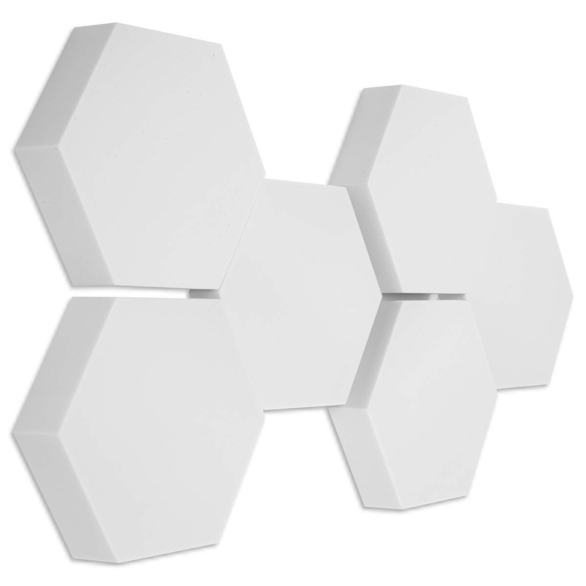 6 Basotect ® G+ Schallabsorber 3D-Set Hexagon Akustik Elemente - Stärke 50 70 mm