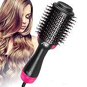 AU Plug Hot Air Brush,One Step Hair Dryer & Volumizer Hair Dryer & Volumizing Styler Comb 3-in-1 Negative Ion…