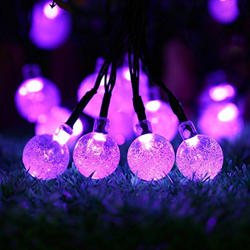 Icicle Halloween Solar String Lights, 20ft 30 LED Waterproof - Import It All