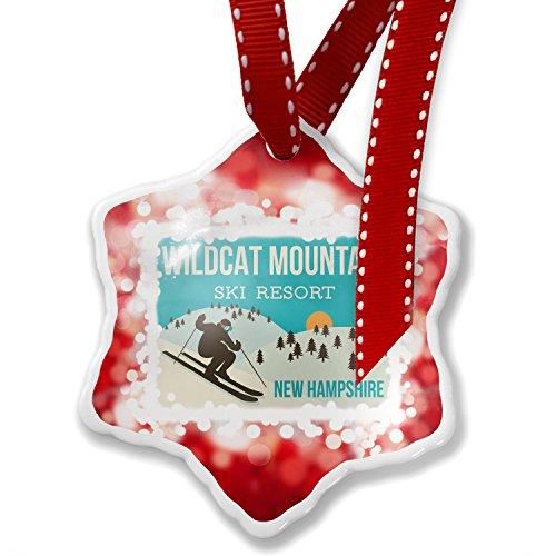 Christmas Ornament Wildcat Mountain Ski Resort - New Hampshire Ski Resort, red - Neonblond (Ski Wildcat)