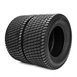 SUNROAD Set of 2 Lawn Garden Tractor Mover Cart Turf Tires...