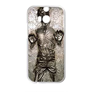 Happy Star Wars Han Solo in Carbonite Life Cell Phone Case for HTC One M8