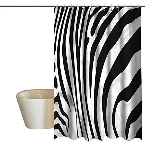 Denruny Shower Curtains for Bathroom Marvel Zebra Print,Animal Skin Pattern,W36 x L72,Shower Curtain for Girls Bathroom (Print Zebra Footstool)