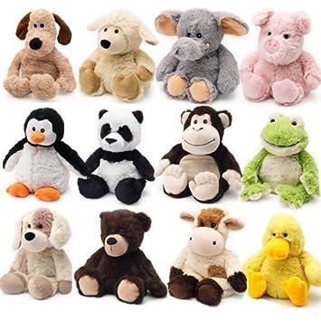 Peluche térmico de Cozy Plush, se puede calentar en el microondas, suave y cálido, para niños elefante: Amazon.es: Bebé
