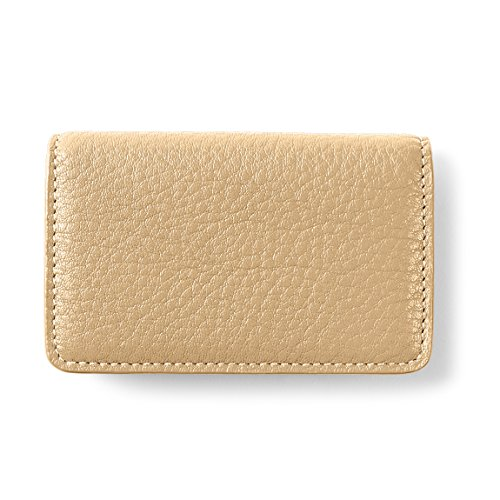 Full Grain Leather - Gold (gold) (Metallic Business Card Case)