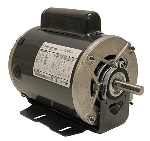 Marathon C1158 Fan and Blower Motor, Single/Split Phase, 1 hp, 1725 rpm, 115/208-230V, 14.7/7.2-7.4 amp - Fan Motor Single
