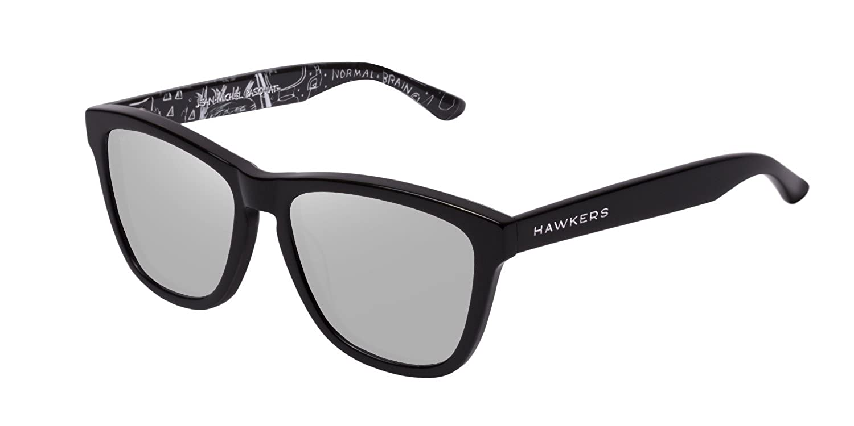Hawkers Unisex-Erwachsene Sonnenbrille RTR01, Grau (Gris/Negro), 60