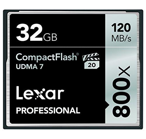 - Lexar Professional 800x 32GB Compact Flash Card (LCF32GCRBNA800)