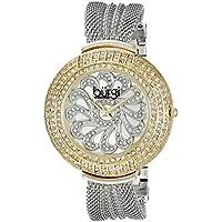 Burgi Women's BUR051TTG Analog Display Japanese Quartz Silver Watch