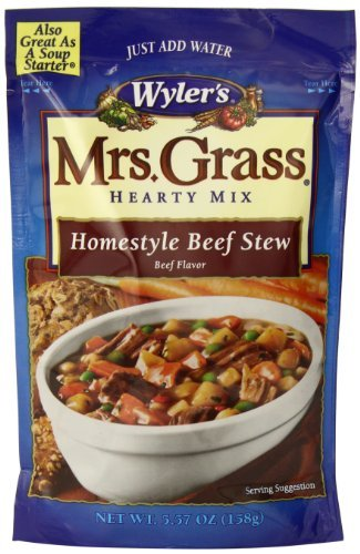 Wyler's Mrs. Grass Hearty Soup Mix, Homestyle Beef Stew, 5.57 oz (Pack of 1) - Heinz Beef