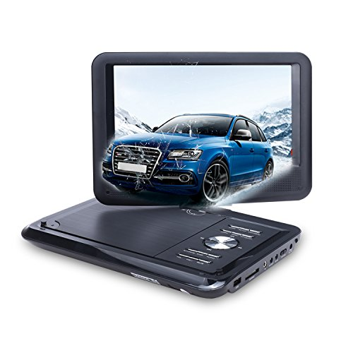 NAVISKAUTO 9 Inch Portable DVD/CD/MP3 Player USB/SD Card Reader with 5 Hour Built-In Rechargeable Battery, 270