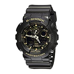 Casio Men's GA-100CF-1A9CR G-Shock Camouflage Watch With Black Resin Band
