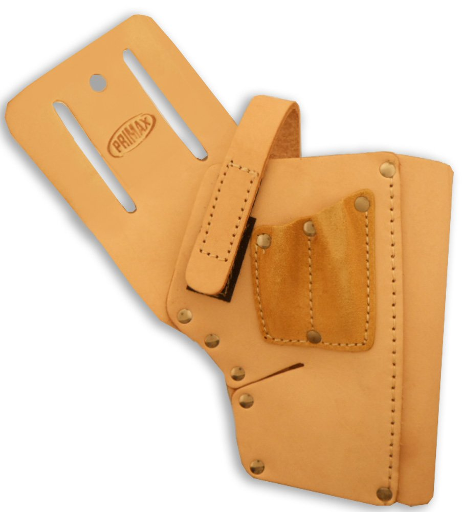 ToolUSA 12.5'' Leather Drill Holster With 7'' Pocket For Your Tool Belt: AT005-H124
