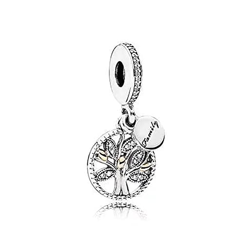 40363bf30 Romántico Amor Tree of Life Family Dangle Beads Silver Fit Pandora Charm  Bracelet&Necklace (family tree
