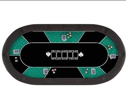 Obobb Poker Table,Portable Poker Table Mat Texas Hold Em Poker Mat with Carry Tube Texas Holdem Poker Set