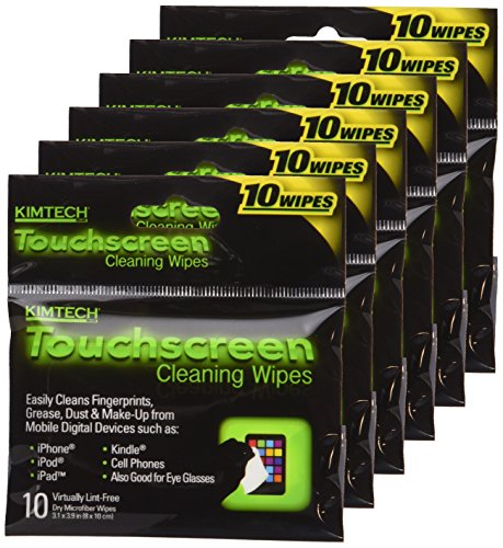 Kimtech TouchScreen Cleaning Wipes, 6 Packs of 10 (60 - Sunglasses From Scratches Remove