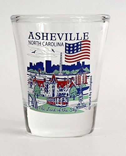 Asheville North Carolina Great American Cities Collection Shot Glass