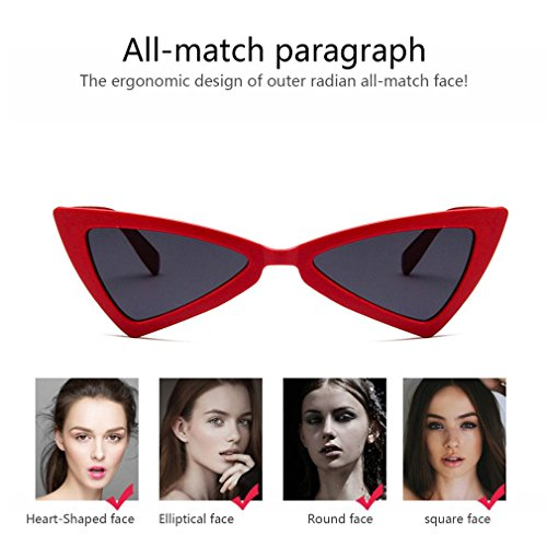 de gato UV400 mujer gafas de Gafas de ojo sol viaje para de de triángulo diseño sol dq8wpxTf