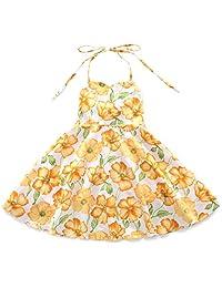 Flofallzique Girls Dress Baby Girls Clothes Vintage Flower Wedding Dress for 1-8 Year