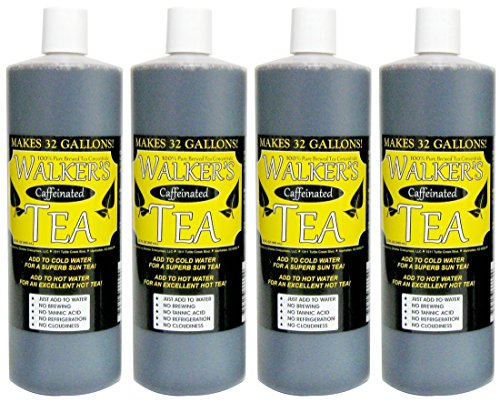 Tea Liquid Concentrate - Liquid Tea Concentrate with Caffeine 4-Pack - Makes 128 Gallons!