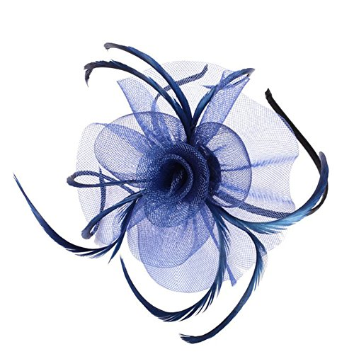 UPC 758391649604, Topshop Womens Ladies Fascinator Hat With Headband Tea Party Derby Wedding Accessory (Deep Blue)