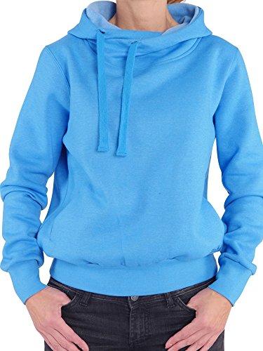 93T5 Finchgirl Lady Hood F1021 Damen Pullover Hoody Kapuzen Blau Gr M