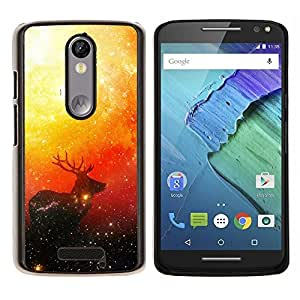 LECELL--Funda protectora / Cubierta / Piel For Motorola MOTO X3 3rd -- Espacio ciervos --