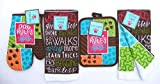 Animal Lovers Dogs Rules Gift Dish Towels and Pot Holder Set, 4 Pc