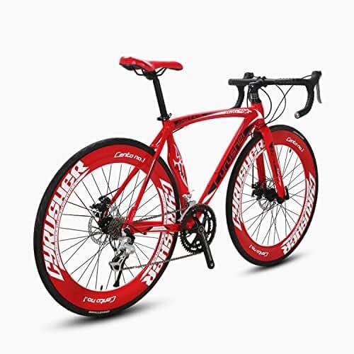 Cyrusher Machete Road Bicycle Shinano 2300 Aluminium Frame 54 cm 700C 70MM Mens Road Bike 14 Speeds Mechanical Disc Brakes