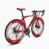 Cyrusher Red Aluminium Frame 50 cm 700C 70MM Mens Road Bike Speeds...