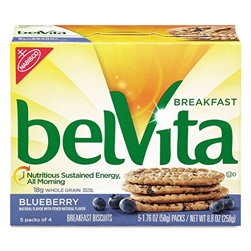 Nabisco belVita Breakfast Biscuits, Blueberry, 1.76 oz Pack, 64/Carton by Nabisco