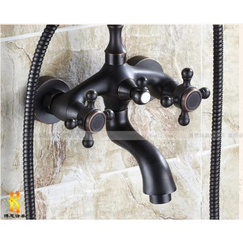 Wall Mount Bathtub Faucet Oil Rubbed Bronze Mixer Tap with Hand Shower Spray 80%OFF