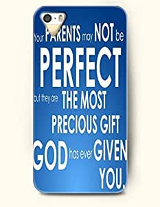 iPhone 5c for kids Case OOFIT Phone Hard Case **NEW** Case with Design Your Parents May Not Be Perfect But They Are The Most Precious Gift God Has Ever Given You.- Proverbs Of Life - Case for Apple iPhone 5c