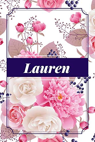 (Lauren: Custom Personalized Lined Name Notebook, Diary, Pad to write in, Birthday, Christmas, Friendship Gifts for Daughter, Niece, Mom, Mum, Mother, ... 6