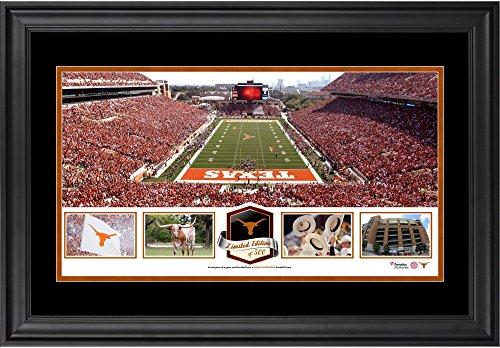 Stadium Memorial - Darrell K Royal-Texas Memorial Stadium Texas Longhorns Framed Panoramic Collage-Limited Edition of 500