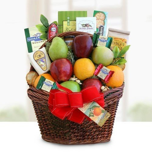 Deluxe Fruit Gift Basket | Includes Meat, Cheese, Nuts, Cookies and Chocolate by Gifts to Impress