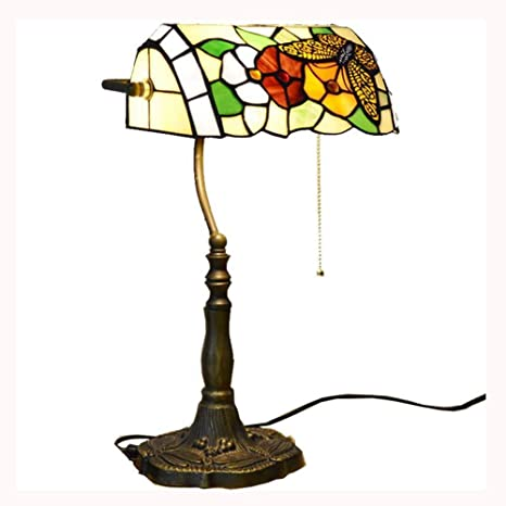 Amazon.com: Lámpara de mesa estilo Tiffany, lámpara de ...