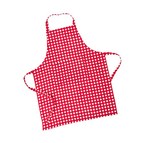 LinenTablecloth Red and White Checkered Chef Apron
