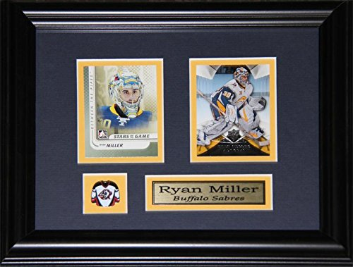 Ryan Miller Buffalo - Ryan Miller Buffalo Sabres 2 Card NHL Hockey Memorabilia Collector Frame