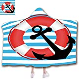 scocici Fashion Blanket Ancient China Decorations Blanket Wearable Hooded Blanket,Unisex Swaddle Blankets for Babies Newborn by,Lifebuoy and Anchor Aboard Travel Protection,Adult Style Children Style