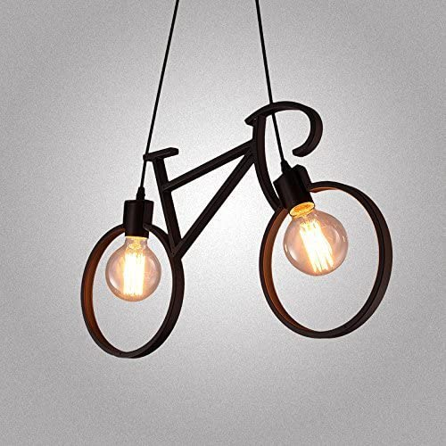 Injuicy Modern Bicycle Metal Iron Pendant Lights Shade E27 Edison Led Bike Ceiling Lamps Fixture