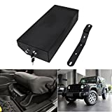 Jade Black Underseat Carbon Steel Locking Storage Security Box LH Driver Side For Jeep Wrangler 2007-2017