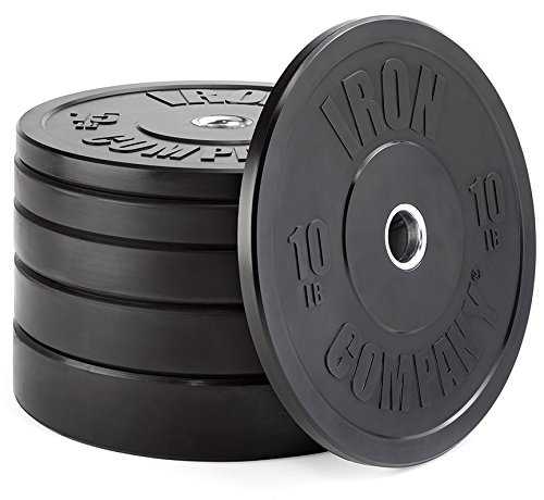 IRON COMPANY Premium Black Virgin Rubber Olympic Bumper Plate 370 lb. Set for Crossfit Workouts and Olympic Weightlifting - IWF Specifications by Ironcompany.com