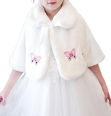 e023c4c3452b8 Bevalsa子供ケープ 女の子 ドレス ポンチョ ボレロ ファー ボレロ ポンチョ カーディガン ケープ フォーマル ガールズ キッズ 子供