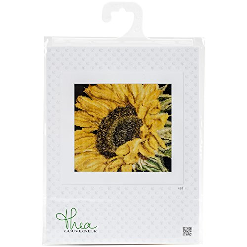 Thea Gouverneur 18 Count Sunflower on Aida Counted Cross Stitch Kit, 6 x ()