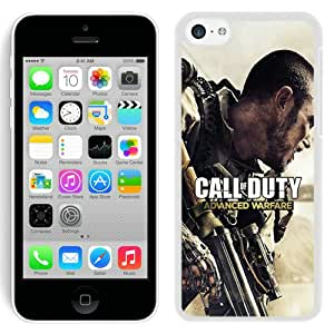 High Quality iPhone 5C Case ,Call Of Duty Advanced Warfare White iPhone 5C Cover Unique And Fashion Designed Phone Case